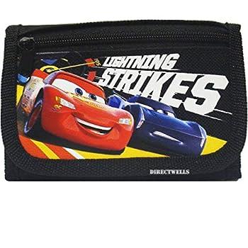 Disney Car Strikes Authentic Licensed Children Trifold Wallet  Black