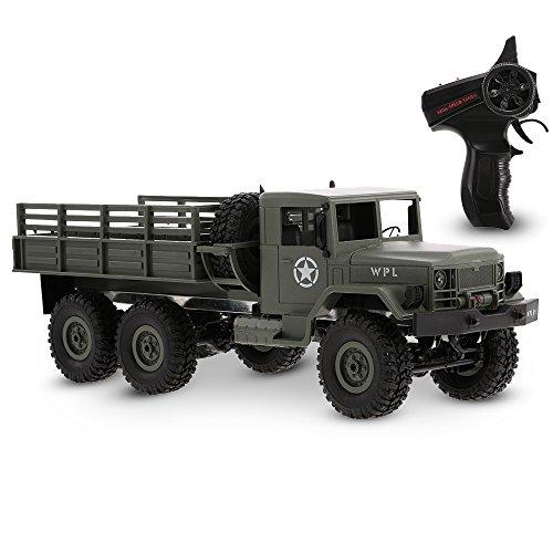 Goolsky WPL B-16 1/16 2.4G 2CH 6WD Camión Militar RC Off-Road Crawler Ejército Coche Vehículo Eléctrico con Luz RTR Regalo de Los Niños Juguete de Los Niños