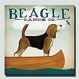 SQSHBBC HD Print Schöne Hunde Wand Poster Möpse Und Beagle Hunde Dekorative Bilder Für Wohnzimmer Wand Große Tiere Leinwand 40x40 cm ungerahmt
