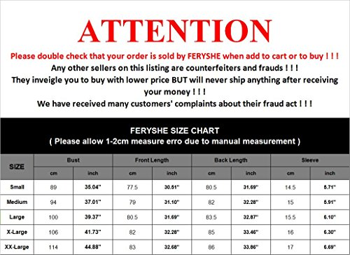 FERYSHE Womens Lace Hem Short Sleeve Flowy Tunic Shirt Long Tee Shirt XXL Red