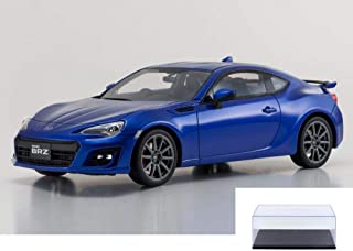 Kyosho Diecast Car & Display Case Package - Subaru BRZ GT, Blue KSR18027BL - 1/18 Scale Collectible Resin Model Car w/Display Case