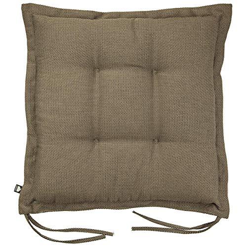 Kopu®-zitkussen Manchester Taupe | Zitkussen voor tuinstoelen | 100% Dralon | Taupe zitkussen 50 x 50 cm | Stevig schuim voor extra comfort | Kussen afgewerkt met teflonlaag