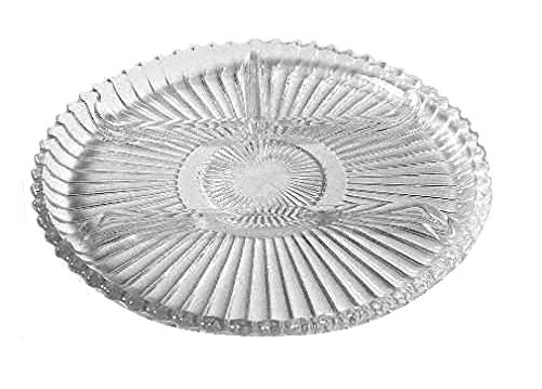 Indiana Glass Ribbed Clear Glass (4-Part Relish Dish)