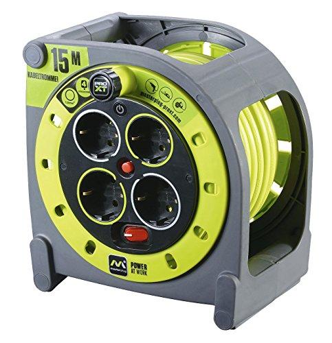 Ross Masterplug ProXT, Prolunga elettrica con avvolgicavo e presa multipla x4, 15 m, HMG15164SL-PX