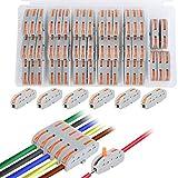 Conector conductor compacto de 50 piezas, conectores de unión compactos, certificación CE obtenida y conformidad RoHS, conductor de surtido de tuercas de palanca, bloques de conectores eléctricos.