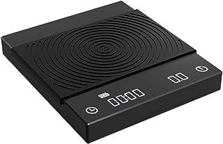 タイムモア TIMEMORE ドリップスケール 電子秤 デジタルスケール コーヒー用スケール キッチン 計量器 高精度計量器 測量範囲0.5g-2000g Black Mirror Single Sensor Scale タイマー機能及計量機能...
