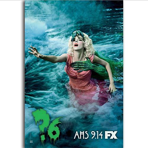 yhnjikl American Horror Story TV Cartel de película Pintura en Lienzo Arte de la Pared Carteles e Impresiones para la decoración de la habitación 40X60Cm Sin Marco