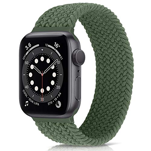 AVOD Braided Solo Loop Watch Band Compatible for Apple Watch SE Series 6 Straps 40mm 38mm Elastic Nylon Straps iWatch Compatible with 6/SE/5/4/3/2/1