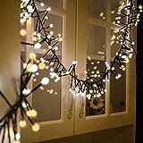 Guirnalda Luces 3M/400LED Avoalre® Luz Guirnalda Led Guirnalda Luces Exterior Decoracion Navidad, Festivales, Bodas, Cobertizos, Patios, Jardines, Pérgolas - Blanco Cálido