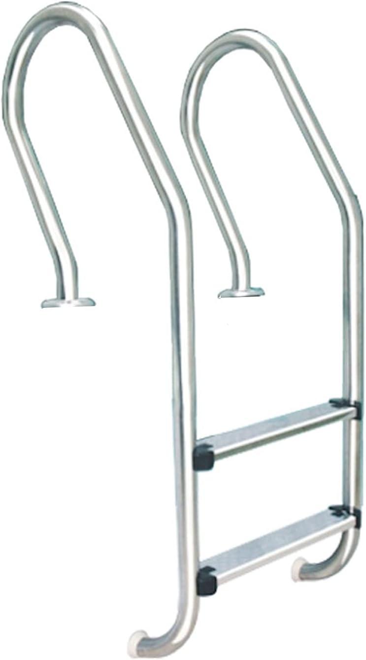 PINFU Escalera de Acero Inoxidable para Piscina con Escalera Antideslizante de 2 escalones con Capacidad de Peso 440 Fácil instalación Barandilla para Piscina