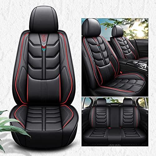 Fundas Asientos Coche Universales para Citroen C4 C3 C5 Triumph C2 C6 Ds4 Ds5 Ds6 C4L Picasso C4 Cactus C-Crosser C-XR Accesorios Coche-Confort Rojo Negro
