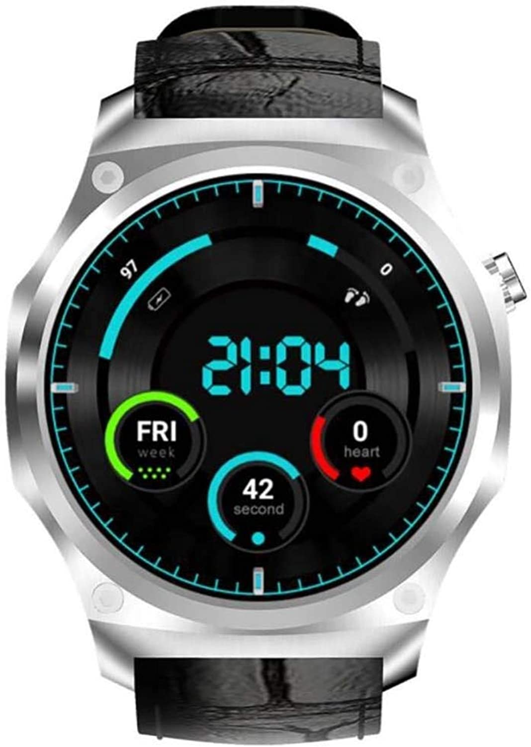 SIECPC Smart Watch Outdoor-Sportarten Android 5.1 Edelstahl WiFi Herzfrequenz GPS Positionierung Business 16G Wasserdichte Sportuhr