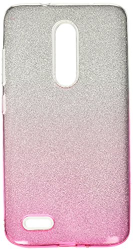 Asmyna Cell Phone Case for Zte Zmax pro - Pink Gradient Glitter