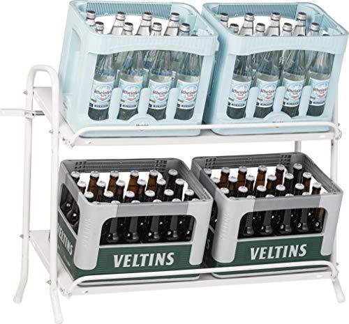 Schulte Regalwelt Getränkekistenregal, Kistenständer und Getränkeregal für bis zu 6 Getränkekisten, 74,5x95x40cm