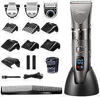 Hatteker Beard Trimmer Hair Clipper Professional Cordless Clippers Hair Trimmer Shaver Detail Trimmer Hair Cutting Kit...