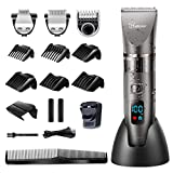 Hatteker Professional Hair Clipper Cordless Clippers Hair Trimmer Beard Shaver Detail Trimmer 3
