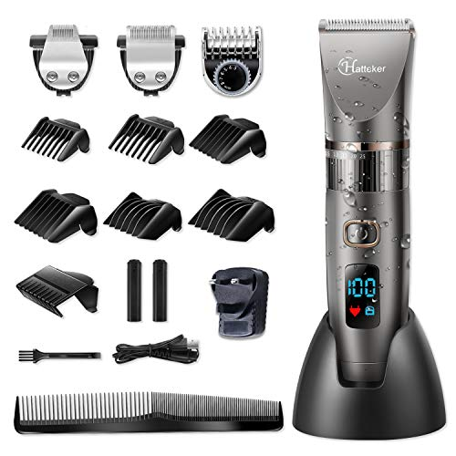 Hatteker Professional Hair Clipper Cordless Clippers Hair Trimmer Beard...