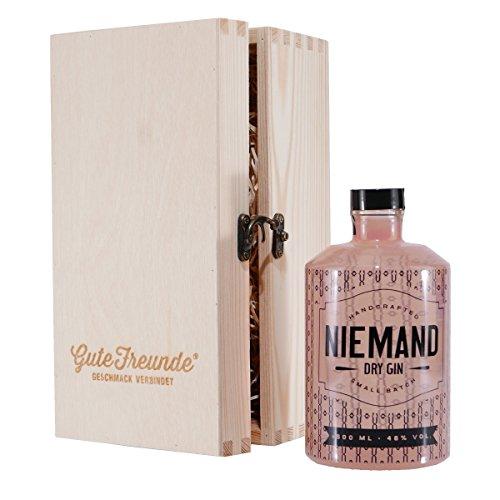 NIEMAND Dry Gin mit Geschenk-Holzkiste
