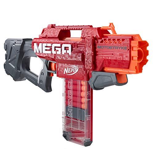 NERF Mega Motostryke Motorized 10-Dart Blaster -- Includes 10 Official Mega Darts and 10-Dart Clip -- for Kids, Teens, Adults