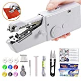Yibaision Handheld Sewing Machine, Portable Mini Small Stapler Hand Sewing Machine Handy Stitch Cordless Lightweight for Beginners for Thin Fabric