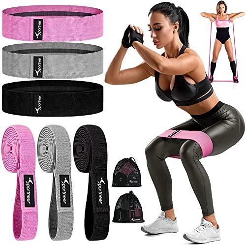 Sportneer Resistance Bands Widerstandsbänder [6er Set] Fitnessband Gymnastikband für Muskelaufbau, Yoga, Crossfit, Gymnastik