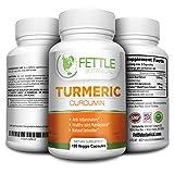 Tumeric Curcumin Turmeric Supplements Powder Capsules 1300mg Daily Dose 2 Month Natural Anti-inflammatory Supplements Antioxidant Supplements Veggie Caps Curcuma Longa Supplement Fettle Botanical