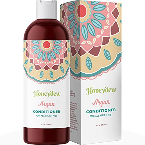 Moroccan Argan Oil Hair Conditioner with Shea Butter Pomegranate and Silk Amino Acids for Dry Damaged Hair Treatment to Strengthen and Smooth Hair and Moisturize Scalp for Healthy Hair Growth