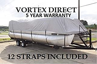 "NEW VORTEX SUPER HEAVY DUTY 1200D BEIGE 17/'6/"" FISHING//SKI//RUNABOUT//BOAT COVER"