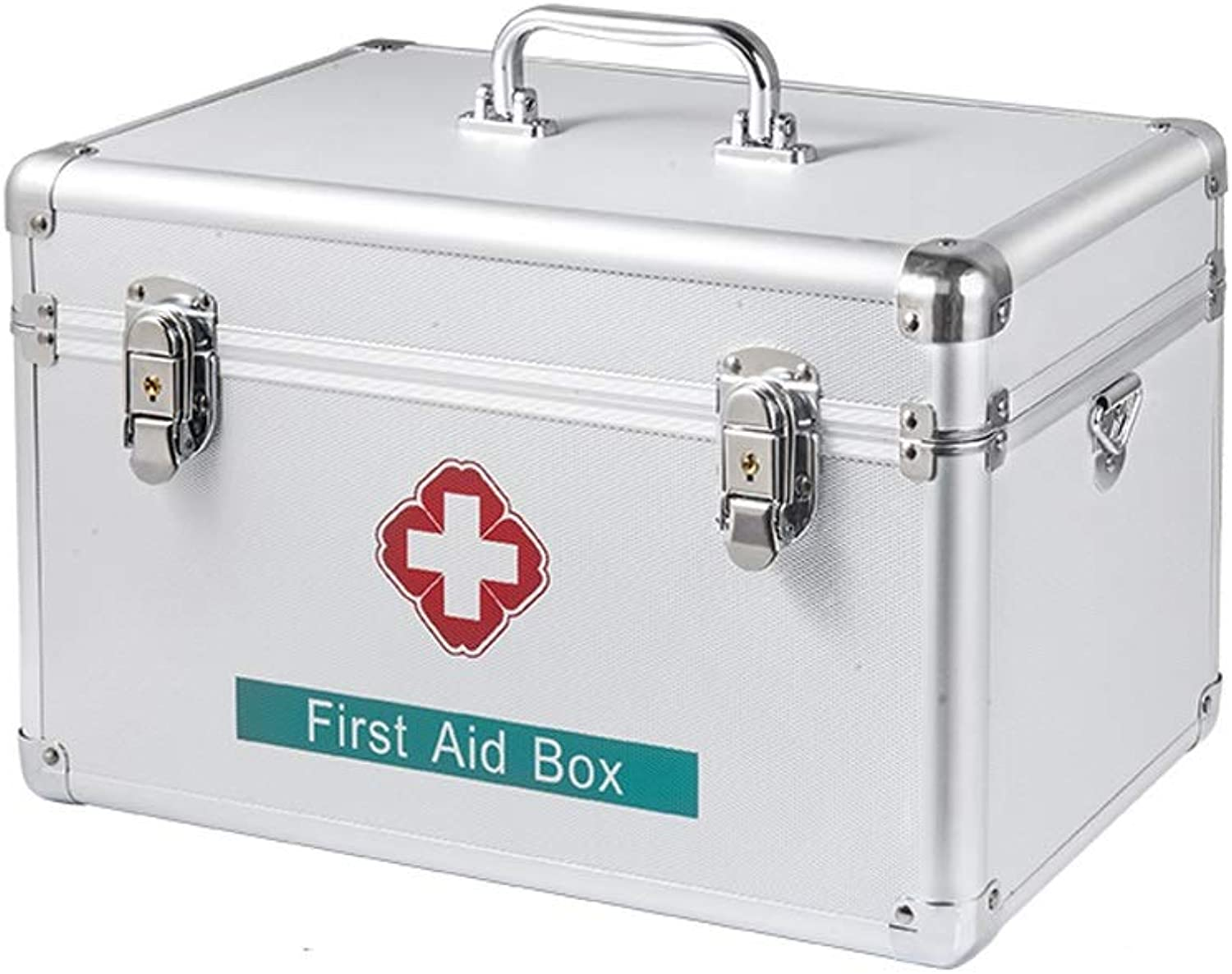 LCSHAN Household Medicine Box Family Should Be Emergency Storage Portable Aluminum Alloy (Size   16 inches)