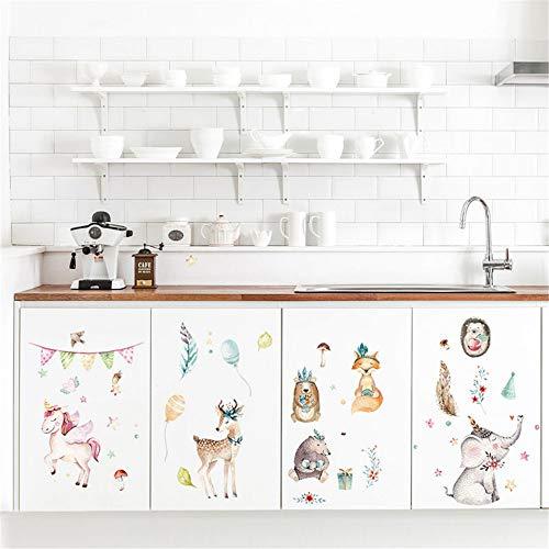 Yptie Wohnzimmer Schlafzimmer Entfernbare Kunst 3D Wandaufkleber Tapete Wandbild Wallpaper Hintergrund Dekor Ammer Tiere