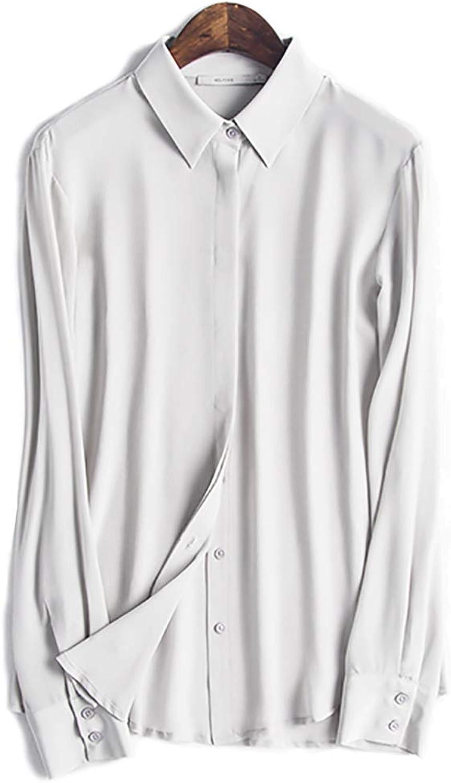 100% Real Silk – Women's Long Sleeve Blouse