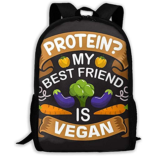 School Backpack Vegan Quote And Saying Good 04 Bookbag Casual Travel Bag For Teen Boys Girls