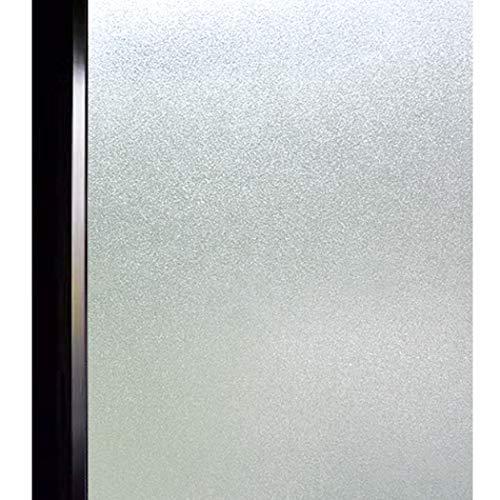 DUOFIRE 窓 めかくしシート 窓用フィルム 目隠しシール すりガラス調 断熱遮熱 結露防止 飛散防止 UVカット 浴室 風呂 玄関目隠し 水で貼る 貼ってはがせる 外から見えない 淡白DS001 (60 x 400cm)