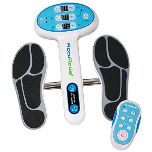 AccuRelief Ultimate Foot Circulator with Remote - EMS Muscle Stimulator - for Neuropathy Pain Relief...