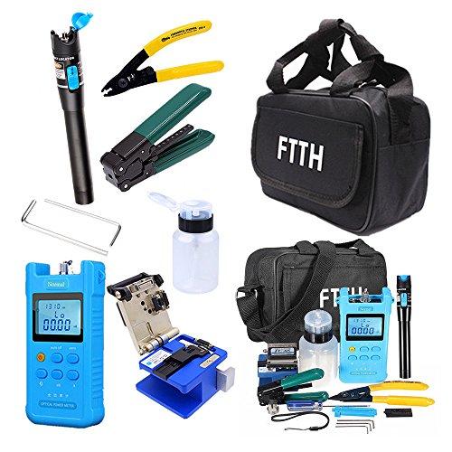 18 in 1 FTTH Fiber Optic Tool Kit with FC-6S Fiber Cleaver Optical Power Meter (18 in 1)