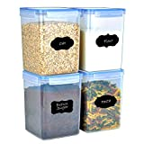 Ambergron Large Airtight Food Containers, Pantry Dry Food Storage for Cereal, Flour, Brown Sugar,...