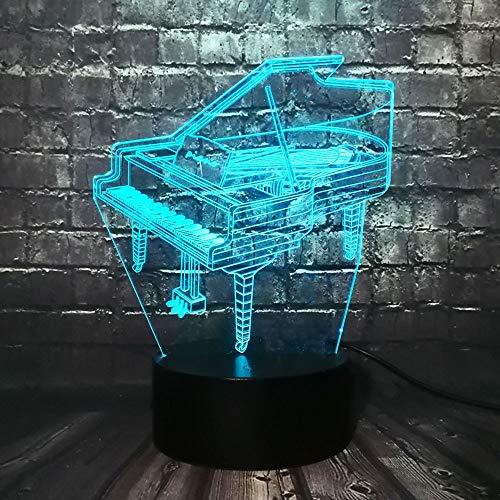 Muziekinstrument Retro Piano 3D USB Led-Licht 16 Kleuren Gloeilamp Muzikant Cadeau Kinderen Slaapkamer Decoratie Elegant Nachtlampje Rgb Lava