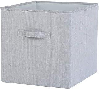 Boîte de rangement, panier de rangement for organisateurs pliable avec poignée, convient aux vêtements, accessoires, forma...