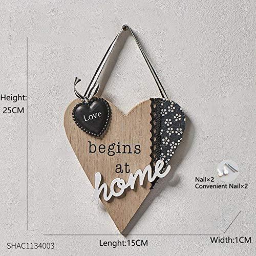 Colgador de pared de madera para llaves, colgador de pared, organizador, rectangular, forma de casa, ganchos, decoración de casa, perchas con tornillos