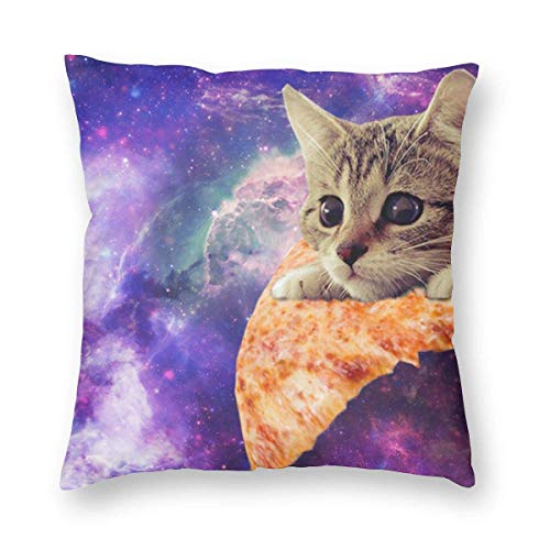 Moily Fayshow Space Cats On Pizza Square Throw Pillowcases Funda de cojín para decoración del hogar