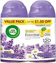Air Wick Pure Freshmatic 2 Refills Automatic Spray, Lavender & Chamomile,Air Freshener, Essential Oil, Odor Neutralization,  6.17 Oz, Pack of 2