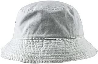 Unisex Short Brim Cotton Bucket Hat Summer Outdoors Leisure Fisherman Hat, White