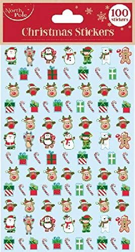 100 x Foam 3D Christmas Stickers Self Adhesive for Xmas Crafts Card Making