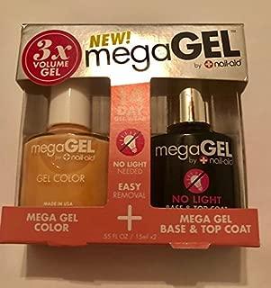 3X Mega Gel nail polish First Blush, Base and Top Coat