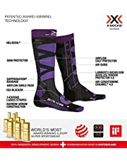 X-Socks Ski Control 4.0 Wmn, Calzini Donna, Charcoal Melange/Purple, 35-36