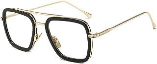 Dollger Tony Stark Glasses Clear Lens Non Prescription Classic Metal Frame Eyewear for Men Women
