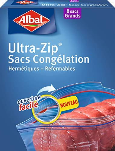 Albal - 8 bolsas para congelador, cierre ultracremallera, hermético, 8 L