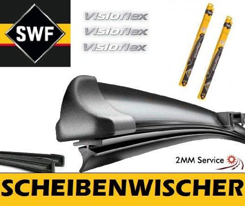 SWF VisioFlex 119355 Scheibenwischer Frontscheibenwischer Wischerblatt Wischblatt Flachbalkenwischer Scheibenwischerblatt 600 / 475 Set 2mmService