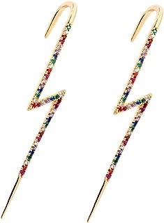 HHoo88 Women Earrings Ear Wrap Crawler Hook Earrings Personalized Surrounds The Auricle Slash Earrings Jewelry Gift