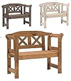 Bomi Echt-Holz Kinderbank Garten Nala | Kindermöbel Gartenbank Holz 2-Sitzer Kirschbaum | Kleine Sitzmöbel für Kinder, Mädchen Jungen